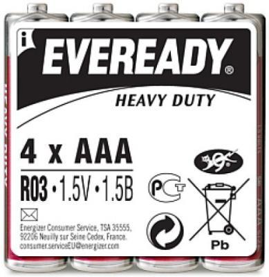 ENERGIZER Батарейка солевая Eveready R03 тип ААА 4шт