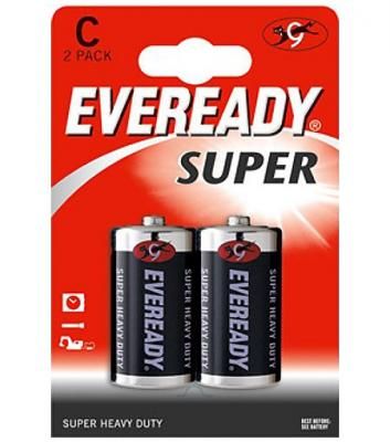 ENERGIZER Батарейка солевая Eveready Super R14 тип C 2шт батарейка d energizer eveready super r20 ni mh 2 штуки
