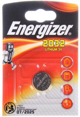 ENERGIZER Батарейка Lithium CR2032 PIP 1шт батарейка energizer cr2032 bp1 1шт в блистере