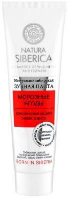 Зубная паста NATURA SIBERICA Морозные ягоды 100 гр зубная паста natura siberica natura siberica na026lknxd91