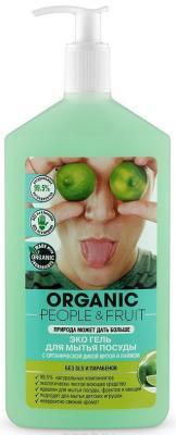 Средство для мытья посуды Organic People Органическая дикая мята и лайм 500мл