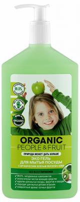Средство для мытья посуды Organic People Органическое яблоко и киви 500мл бальзам для мытья посуды nordland кокос киви