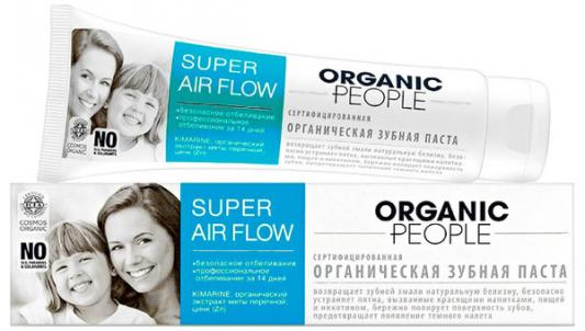 Зубная паста Organic People Super air flow 100 мл зубная паста zoom white organic people 100 г