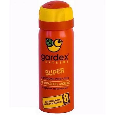 GARDEX Extreme SUPER Аэрозоль-репеллент от комаров и других насекомых 80 мл аэрозоль от насекомых combat super spray 500 мл