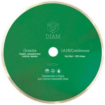 Круг алмазный DIAM Ф250x32/25.4мм 1A1R GRANITE 1.6x7мм по граниту