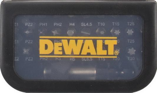 Набор бит DeWALT DT7944-QZ (31шт.) в пластиковом боксе с прозрачной крышкой набор бит sparta с адаптерами для бит в пластиковом боксе 100 предметов