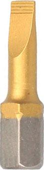 Бита Hammer Flex 203-139 PB SL-1,2*6,5 25мм TIN, 1шт. батарейки sony 362 sr721swn pb 1шт
