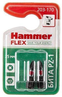 Бита Hammer Flex 203-170 PZ-1 25мм, 2шт.