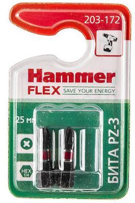 Бита Hammer Flex 203-172 PZ-3 25мм, 2шт. бита hammer pb pz 1 pz 1 50мм 2шт