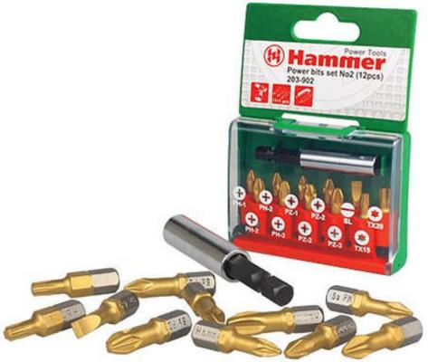 Набор бит Hammer Flex 203-902 PB набор No2 Ph/Pz/Sl/Tx 12шт. набор буров hammer 201 902 dr sds set no2