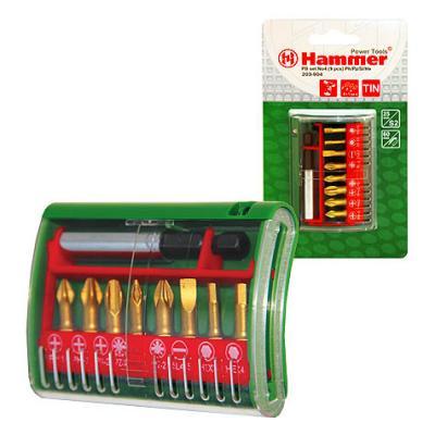 цена на Набор бит Hammer Flex 203-904 PB набор No4 Ph/Pz/Sl/Hx 9шт.