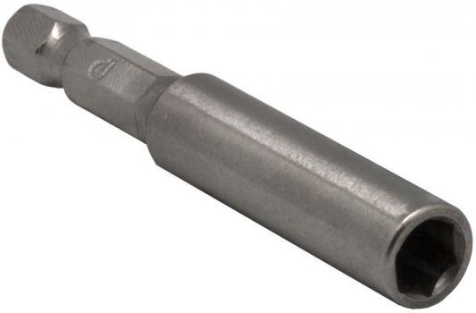 Держатель для бит ПРАКТИКА 036-780 60мм, магнитный, цельнотянутый(упак25шт) держатель для бит магнитный цельнотянутый 100 мм удлинитель практика