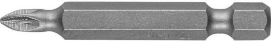 Бита ЗУБР МАСТЕР 26003-1-50-2 кованая CrMo E 1/4 PZ1 50мм 2шт бита зубр профи 26027 5 50 s2 hex5 e 1 4 50мм 2шт на карт