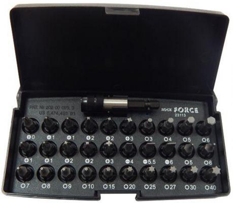 Набор бит ROCK FORCE RF-23113 вставок 1/4dr с держателем 31пр. /1/20/80