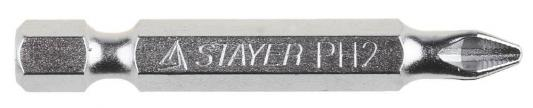 Биты STAYER 26209-2-50-10 хвостовик E 1/4. система NSS. PH №2. 50мм. 10шт кисть радиаторная universal master нат щетина 50мм stayer 0110 50 z01