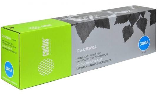 Картридж Cactus CS-CB380AV для HP CLJ CP6015X/6015XH/6015DE черный 16500стр картридж cactus cs q2673ar для hp clj 3500 3550 3700 пурпурный 4000стр