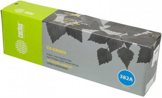 Картридж Cactus CS-CB382AV для HP CLJ CM6030/CM6040/CP6015 желтый 21000стр 220v new oem japan fuser assembly unit for hp color laserjet lj cp6015 cm6030 cm6040 fixing high quality