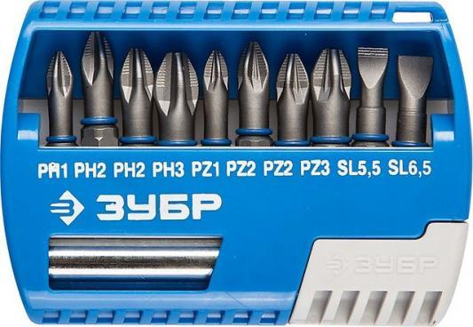 Фото - Набор бит ЗУБР ЭКСПЕРТ 26050-H11 с маг.адаптером Cr-Mo PH1/PH2/PH3/PZ1/PZ2/PZ3/SL55/SL65 11шт набор бит зубр эксперт 26052 h11 с маг адаптером cr mo ph1 ph2 ph3 pz1 pz2 pz3 hex 3 4 5 6 11шт