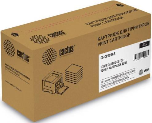 Картридж Cactus CS-CE505AR для HP LJ P2055/P2035 черный 2300стр картридж cactus cs ce260x для hp lj cp4025 cp4525 cm4540 черный 17000стр