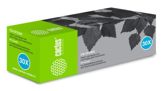 Картридж Cactus CS-CF230X для HP LJ 203/227 черный 3500стр cactus cs cf230a black тонер картридж для hp lj 203 227