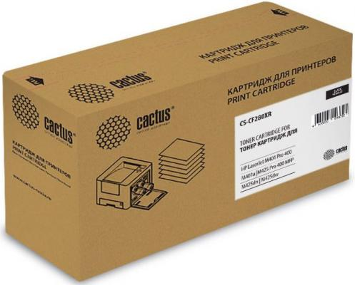 Картридж Cactus CS-CF280XR для HP LJ Pro 400/M401/M425 черный 6900стр картридж hp 33a cf233a для hp lj pro m106 m134 черный 2300стр