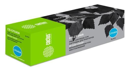 Картридж Cactus CS-CF540A для HP LJ M254dw/M280nw/M281fdn черный 1400стр картридж cactus cs ce260x для hp lj cp4025 cp4525 cm4540 черный 17000стр