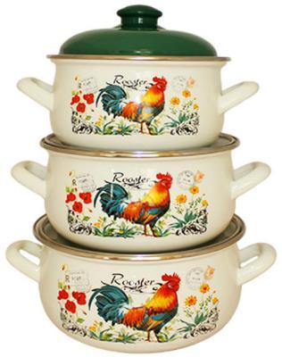 Набор посуды Interos 16366A Петушок набор посуды interos 15231 маслины
