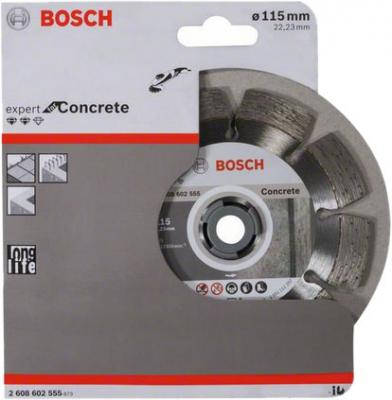 Диск алм. BOSCH Expert for Concrete 115x22 сегмент (2.608.602.555) 115 Х 22 сегмент круг алмазный bosch expert for concrete 450x25 4 сегмент 2 608 602 563