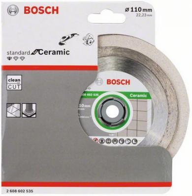 Диск алм. BOSCH Standard for Ceramic 110x22 корона (сплошной) (2.608.602.535) 110 Х 22 корона (спло диск алм bosch standard for ceramic 115x22 корона сплошной 2 608 602 201 115 х 22 корона спло
