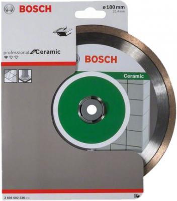 Диск алм. BOSCH Standard for Ceramic 180x25.4 корона (сплошной) (2.608.602.536) 180 Х 25.4 корона (