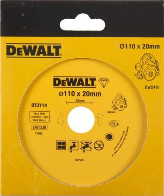 Диск алм. DeWALT DT3714-QZ DEWALT® для плиткореза DWC410 110x20x1.6мм dewalt dw609