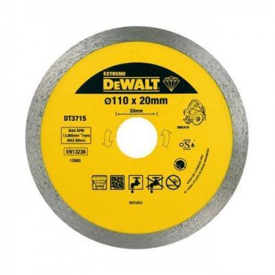 Диск алм. DeWALT DT3715-QZ EXTREME DEWALT® для плиткореза DWC410 110x20x1.6мм диск алм dewalt dt3714 qz dewalt® для плиткореза dwc410 110x20x1 6мм