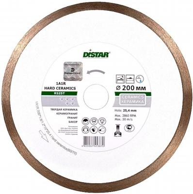 Диск алм. DISTAR 1A1R HARD CERAMICS RP25T 249266 125 Х 22 корона (сплошной) диск алмазный сплошной по керамике hard ceramics 150х25 4 мм distar 11120048012
