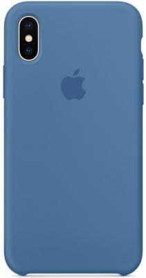 Накладка Apple Silicone Case для iPhone X синий MRG22ZM/A чехлы для телефонов nillkin накладка для apple iphone x
