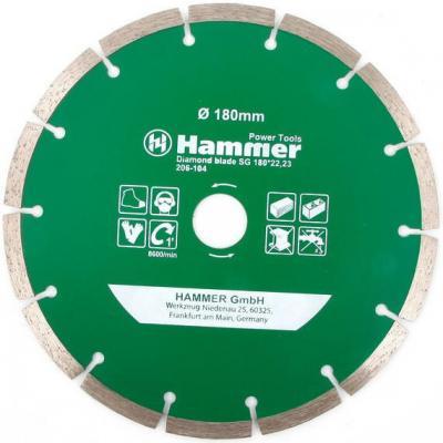 Диск алм. Hammer Flex 206-104 DB SG 180x22мм сегментный круг алмазный hammer 206 155 db tb proff