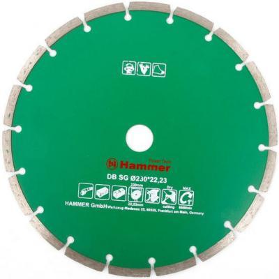 Диск алм. Hammer Flex 206-105 DB SG 230x22мм сегментный круг алмазный hammer 206 155 db tb proff