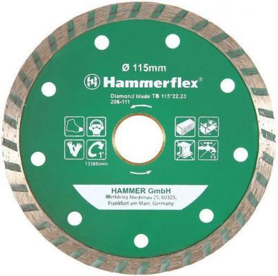 Диск алм. Hammer Flex 206-111 DB TB 115x22мм турбо диск алм hammer flex 206 111 db tb 115x22мм турбо