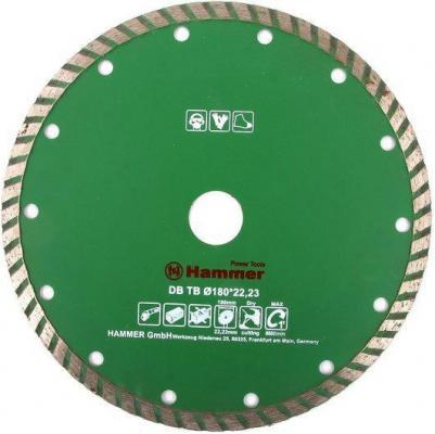 Диск алм. Hammer Flex 206-114 DB TB 180x22мм турбо. диск алм hammer flex 206 112 db tb 125x22мм турбо
