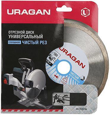 Круг алмазный URAGAN 909-12172-150 сплошной для электроплиткореза 150х25.4мм бур uragan 29311 260 06