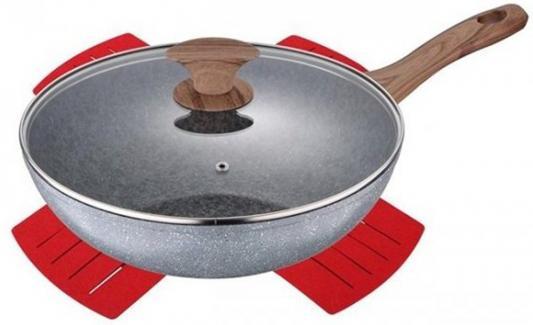 Сковорода Bergner BG-7973 Granit Eco 24 см алюминий сковорода гриль bergner bg 7979 granit eco