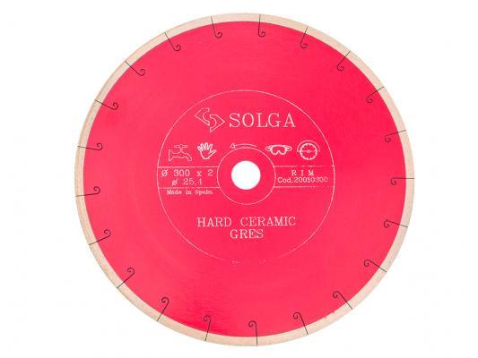 Круг алмазный SOLGA DIAMANT 20010300 hard ceramics сплошной керамогранит 300х25.4мм diamant диамант разрисуй лошадку 3d
