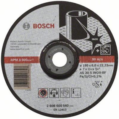 Круг зачистной BOSCH Expert for Inox 180x6x22по нерж. (2.608.600.540) 180 Х 6 Х 22, по нержав. круг зачистной обдирочный для нержавейки 150х22х6 мм inox bosch профи