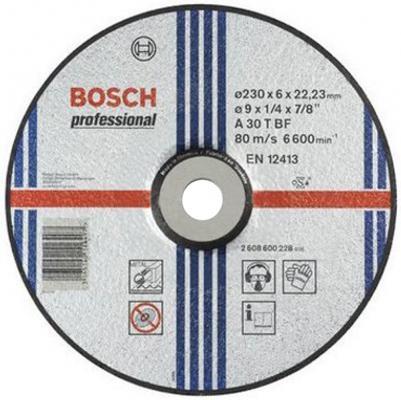 Круг зачистной BOSCH Expert for Metal 230x6x22 (2.608.600.228) 230 Х 6 Х 22, по металлу круг алмазный практика 030 757 da 230 22t 230 х 22 турбо