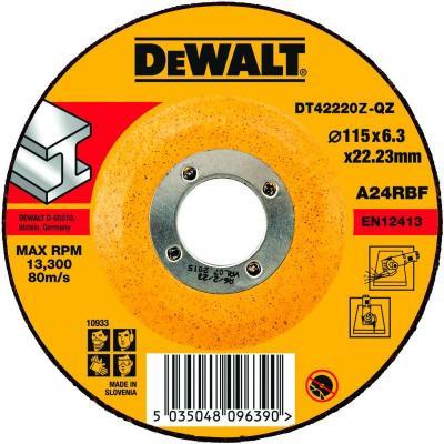Круг зачистной DEWALT DT42220Z-QZ Ф115х6.3мм по металлу INDUSTRIAL тип 27