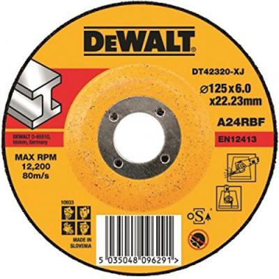 Круг зачистной DEWALT DT42520Z-QZ Ф180х6.3мм по металлу INDUSTRIAL тип 27