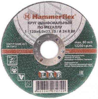 Шлифовальный круг 125 x 6.0 x 22,23 A 24 R BF Круг шлифовальный Hammer Flex 232-017 по металлу gipfel ковш velour 16 см 1 2 л