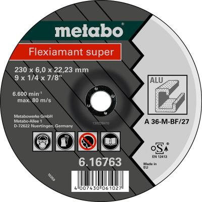 Круг обдирочный METABO 616749000 ALU Flexiamant S 125x6.0мм A36M цена