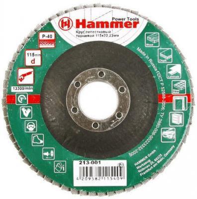 Лепестковый круг 115 Х 22 Р 40 тип 1 КЛТ Hammer Flex 213-001 Круг лепестковый торцевой 125 х 22 р 120 тип 1 клт hammer flex 213 005 круг лепестковый торцевой