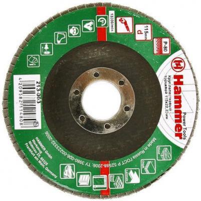 Лепестковый круг 115 Х 22 Р 80 тип 1 КЛТ Hammer Flex 213-003 Круг лепестковый торцевой 125 х 22 р 80 тип 1 клт hammer flex 213 009 круг лепестковый торцевой