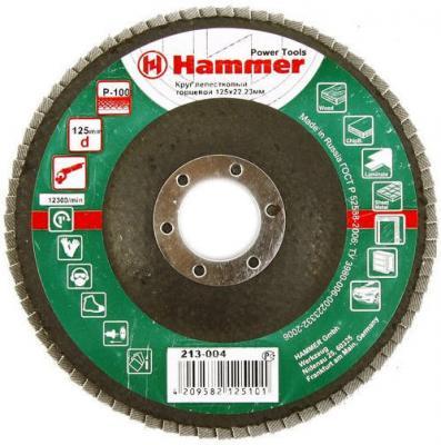 Лепестковый круг 125 Х 22 Р 100 тип 1 КЛТ Hammer Flex 213-004 Круг лепестковый торцевой roomble latitude flex shelf set 213